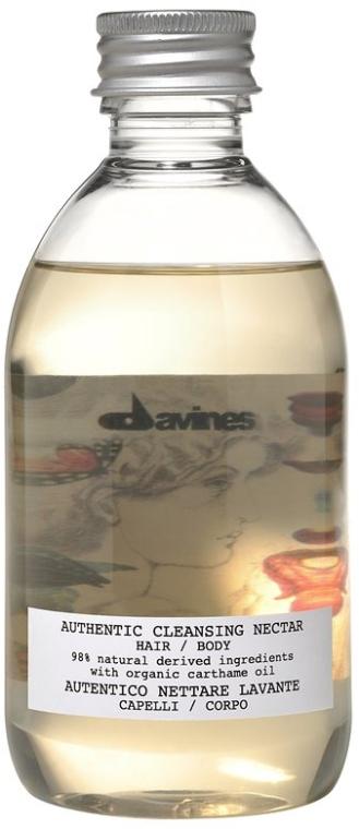 Feuchtigkeitsspendendes und revitalisierendes Shampoo für Haar und Körper mit Färberdistel-, Sonnenblumen-, Sesam- und Jojobaöl - Davines Authentic Cleansing Nectar — Bild N1