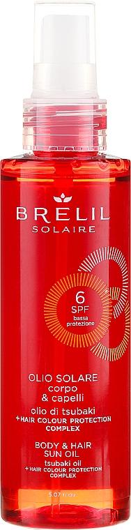 Sonnenschutzöl für Haar und Körper SPF 6 - Brelil Solaire Oil SPF 6 — Bild N1