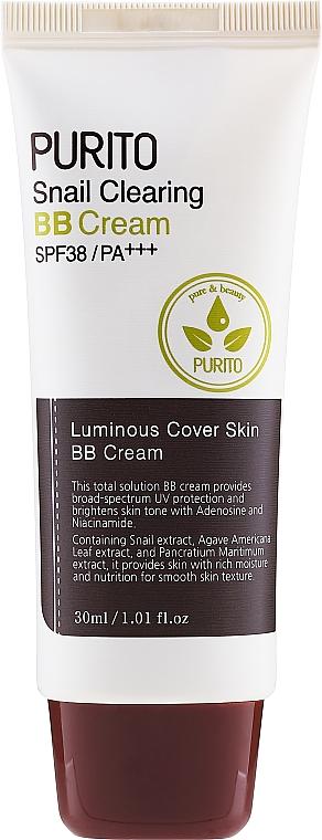 Aufhellende Anti-Falten BB Gesichtscreme mit Schneckenextrakt SPF 38 - Purito Snail Clearing BB Cream SPF38/PA+++