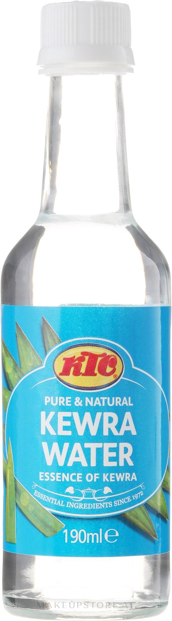 Kewra-Wasser (Blumen Wasser) - KTC Kewra Water — Bild 190 ml