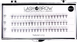 Düfte, Parfümerie und Kosmetik Wimpernbüschel-Set - Lash Brown Premium Flare Silk Lashes Natural Long