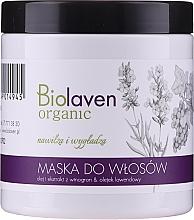 Düfte, Parfümerie und Kosmetik Feuchtigkeitsspendende und glättende Haarmaske mit Weintrauben- und Lavendelöl - Biolaven Organic Hair Mask