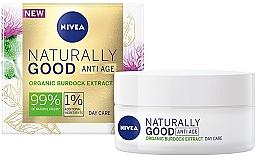 Düfte, Parfümerie und Kosmetik Anti-Aging Tagescreme für das Gesicht mit Klettenextrakt - Nivea Naturally Good Anti Age Day Cream Organic Burdock Extract