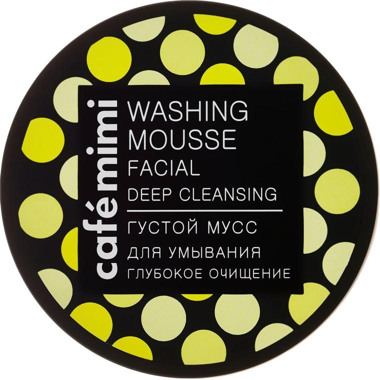 Tiefenreinigende Gesichtswaschcreme für trockene und empfindliche Haut - Cafe Mimi Washing Mousse Facial Deep Cleaning