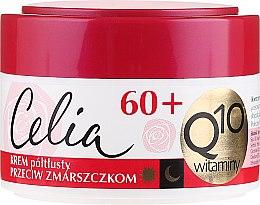Düfte, Parfümerie und Kosmetik Halbfettige Anti-Falten Gesichtscreme mit Coenzym Q10 und Vitaminen 60+ - Celia Q10 Face Cream 60+