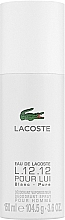 Düfte, Parfümerie und Kosmetik Lacoste Eau De L.12.12 Blanc - Deospray