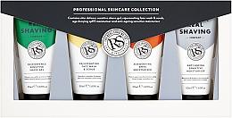 Düfte, Parfümerie und Kosmetik Gesichtspeeling - The Real Shaving Co. (Gesichtscreme gegen Falten 2x50ml + Rasiergel für empfindliche Haut 50ml + Verjüngendes Gesichtspeeling 50ml)