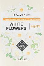 Düfte, Parfümerie und Kosmetik Feuchtigkeitsspendende und aufhellende Tuchmaske für das Gesicht mit weißen Blumen - Etude House 0.2 Therapy Air Mask No.White Flowers