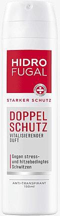 Deospray Antitranspirant für doppelten Schutz mit vitalisierendem Duft - Hidrofugal Double Protection Spray