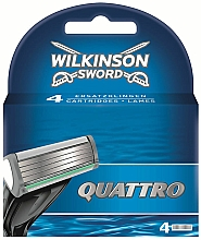 Düfte, Parfümerie und Kosmetik Ersatzklingen 4 St. - Wilkinson Sword Quattro Cartridge Razor Blades