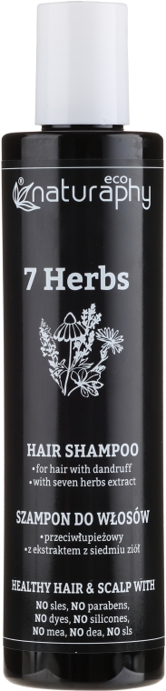 Anti-Schuppen Shampoo mit Extrakten aus 7 Kräutern - Bluxcosmetics Naturaphy 7 Herbs Hair Shampoo — Bild N1