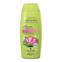 Düfte, Parfümerie und Kosmetik 2in1 Shampoo und Haarspülung mit Basilikum und Lotusblüte - Avon Naturals Hair Care Shampoo