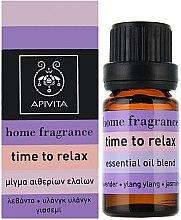 Entspannende Ölmischung mit Lavendel, Ylang-Ylang und Jasmin - Apivita Aromatherapy Essential Oil Time to Relax  — Bild N1