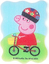 Düfte, Parfümerie und Kosmetik Kinder-Badeschwamm Peppa Pig Peppa auf dem Fahrrad - Suavipiel Peppa Pig Bath Sponge