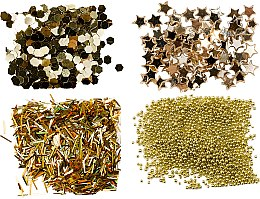 Düfte, Parfümerie und Kosmetik Nageldekorationen-Set Gold - Peggy Sage Nail Glitter Mini Kit Or