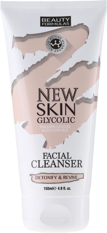 Gesichtsreinigungsmilch - Beauty Formulas New Skin Glycolic Facial Cleanser