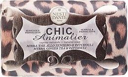 Düfte, Parfümerie und Kosmetik Naturseife Leopard - Nesti Dante Vegetable Soap Myrr, Ginger Tea & Patchouli Chic Animalier Collection