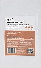 Düfte, Parfümerie und Kosmetik Anti-Aging Peel-Off-Maske für das Gesicht mit Weizenkeim- und Paranussöl - Lynia Power Of Oil Peel Off Powder Mask