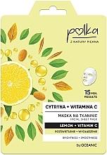 Düfte, Parfümerie und Kosmetik Aufhellende und glättende Tuchmaske mit Zitrone und Vitamin C - Polka Lemon And Vitamin C Facial Sheet Mask