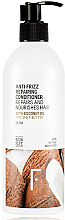 Düfte, Parfümerie und Kosmetik Anti-Frizz Haarspülung mit Kokosnussöl und Sheabutter - Freshly Cosmetics Anti Frizz Repairing Conditioner