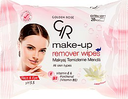 Düfte, Parfümerie und Kosmetik Feuchttücher zum Abschminken - Golden Rose Extra Soft Make-up Remover Wipes