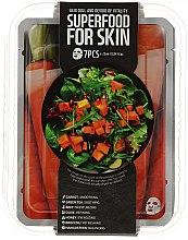 Düfte, Parfümerie und Kosmetik Gesichtspflegeset - Superfood For Skin Dull And Devoid Of Vitality Skin (Tuchmaske 7x25 ml)