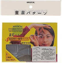 Düfte, Parfümerie und Kosmetik Augenbrauenschablonen Größe C5, C6, C7, C8 - Magical Eyebrow Style
