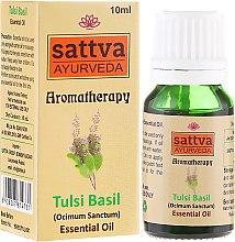 Düfte, Parfümerie und Kosmetik Ätherisches Öl Indisches Basilikum - Sattva Ayurveda Tulsi Basil Essential Oil