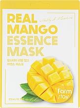 Düfte, Parfümerie und Kosmetik Vitalisierende und feuchtigkeitsspendende Tuchmaske mit Mangoextrakt - FarmStay Real Mango Essence Mask