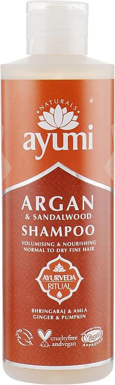 Pflegendes Shampoo für mehr Volumen mit Argan und Sandelholz - Ayumi Argan & Sandalwood Shampoo — Bild N1