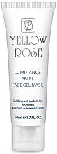 Düfte, Parfümerie und Kosmetik Intensiv feuchtigkeitsspendende, aufhellende und beruhigende Anti-Aging Gesichtsgel-Maske mit Perlenextrakt und Diamantenpulver - Yellow Rose Luminance Pearl Face Gel Mask (Tube)