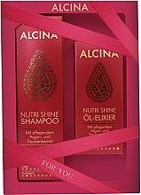 Düfte, Parfümerie und Kosmetik Haarpflegeset - Alcina Nutri Shine Set (Shampoo 250ml + Öl Elixier 50ml)
