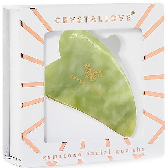 Gesichtsmassage-Platte aus Jade - Crystallove Jade Gua Sha — Bild N2