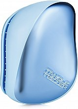 Düfte, Parfümerie und Kosmetik Kompakte Haarbürste chrom-blau - Tangle Teezer Compact Styler Sky Blue Delight Chrome
