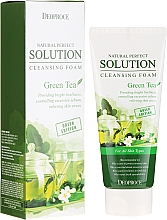 Düfte, Parfümerie und Kosmetik Gesichtsreinigungsschaum mit Grüntee-Extrakt - Deoproce Natural Perfect Solution Cleansing Foam Green Tea