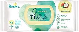 Düfte, Parfümerie und Kosmetik Feuchte Babytücher 42 St. - Pampers Pure Coconut