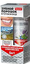 Düfte, Parfümerie und Kosmetik 5in1 Aufhellendes Zahnpulver mit weißer altaischen Tonerde - Fito Kosmetik Volksrezepte