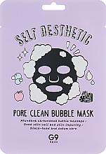 Düfte, Parfümerie und Kosmetik Tief reinigende, porenverengernde und pflegende Tuchmaske für das Gesicht gegen Mitesser - G9Skin Self Aesthetic Poreclean Bubble Mask