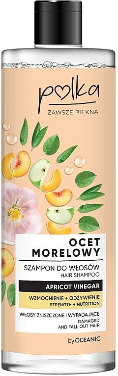 Stärkendes und pflegendes Shampoo mit Aprikosenessig für strapaziertes und zu Haarausfall neigendes Haar - Polka Apricot Vinegar Shampoo