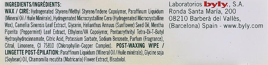 Enthaarungswachsstreifen für das Gesicht mit Minze und grünem Tee - Byly Depil Mint And Green Tea Hair Removal Strips Face — Bild N2