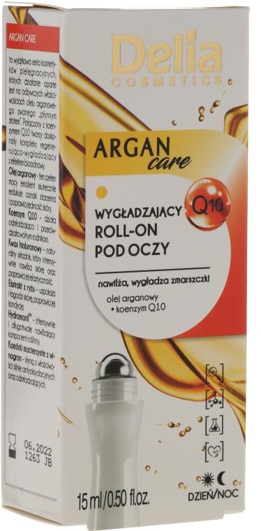 Anti-Falten Roll-on für die Augenpartie mit Arganöl und Coenzym Q10 - Delia Argan Care Under Eye Roll-On Wrinkles Smoother