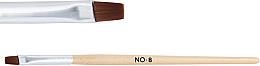 Düfte, Parfümerie und Kosmetik Holzpinsel für Nagelgel №8 - NeoNail Professional