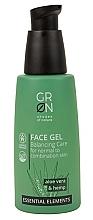 Düfte, Parfümerie und Kosmetik Gesichtsgel für normale und Mischhaut mit Aloe Vera und Hanf - GRN Essential Elements Aloe Vera & Hemp Face Gel