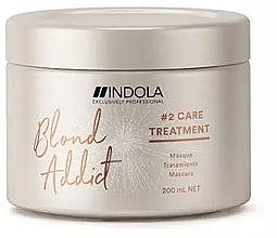 Düfte, Parfümerie und Kosmetik Reparieredne Haarmaske für gefärbtes Haar - Indola Blond Addict Treatment