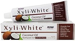 Düfte, Parfümerie und Kosmetik Zahnpasta-Gel mit Kokosnussöl - Now Foods XyliWhite Coconut Oil Toothpaste Gel