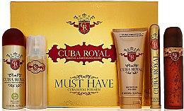 Düfte, Parfümerie und Kosmetik Cuba Royal Must Have - Duftset (Eau de Toilette 100ml + After Shave 100ml + Duschgel 200ml + Körperspray 200ml + Eau de Toilette 35ml)