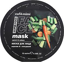 Düfte, Parfümerie und Kosmetik Gesichtsmaske mit Karotte und Sellerie - Cafe Mimi Face Mask