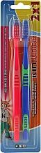 Düfte, Parfümerie und Kosmetik Kinderzahnbürsten blau, rot 2 St. - Kin Junior Toothbrush Pack