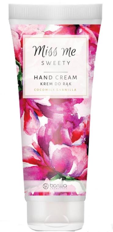 Handcreme mit Kokosmilch- und Vanilleduft - Barwa Miss Me Sweety Coco Milk & Vanilla