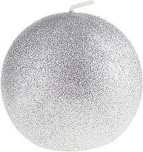 Düfte, Parfümerie und Kosmetik Dekorative Kerze Glamour, silber - Artman Christmas Candle Glamour Ø10cm